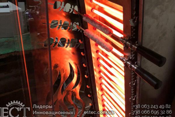 Автоматический вертикальный мангал BBQ — KM-1210